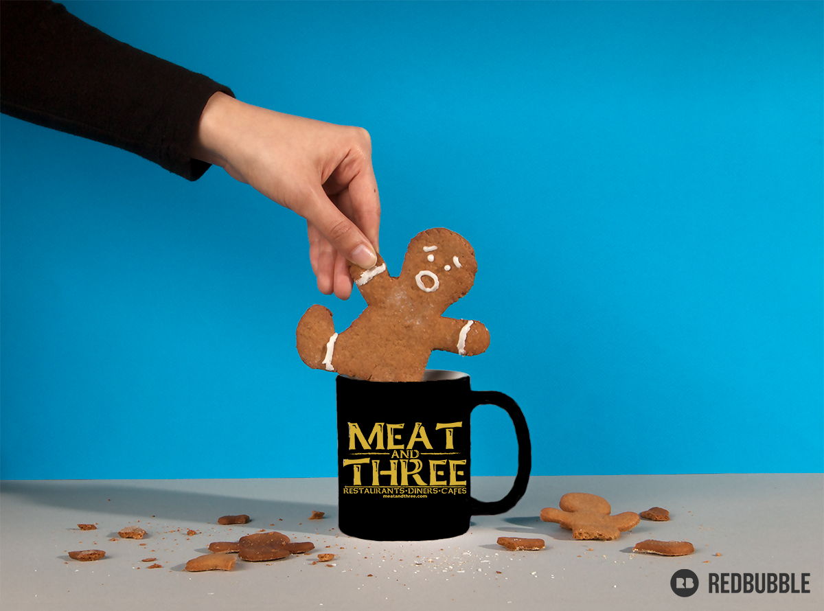 RedBubble MEATandTHREE.com Coffee Mug